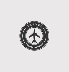 Plane aeroplane travel airline logo design vector