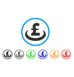 Pound deposit placement rounded icon vector