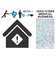 Problem Building Icon with 1000 Medical Business vector