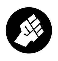 raised fist icon vector image