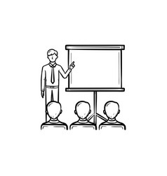 real estate education hand drawn outline doodle vector image