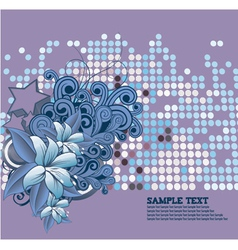 Retro floral background with stars vector