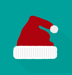 santa claus hat in a flat style vector image