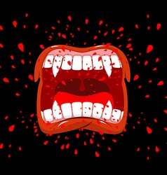 Screaming vampire Dracula screams Violent emotion vector