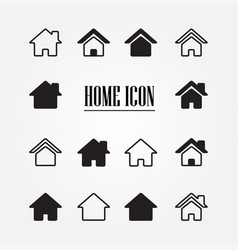 set home icon vector image