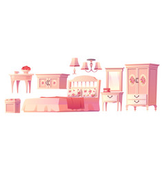 shabchic interior set for bedroom vector image