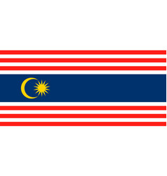 simple flag state of malaysia vector image