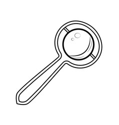 Sketch baby rattle vector