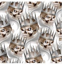 skull in crown vector image