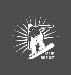 Snowboarding badge winter sport vector