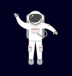 spaceman isolated on black background astronaut vector image
