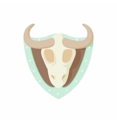 Stuffed bull icon cartoon style vector image