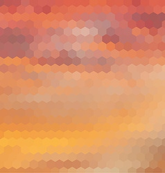 Sundown themed background with hex grid vector image