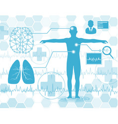 technology and science conceptmedical science in vector image