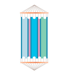 the colorful hammock vector image