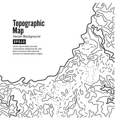 Topographic map background concept elevation vector