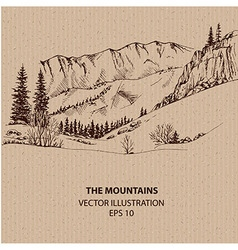 View In the Mountains vector