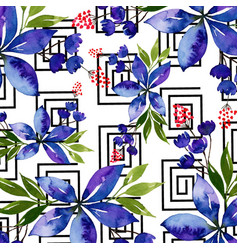 watercolor memphis floral background vector image
