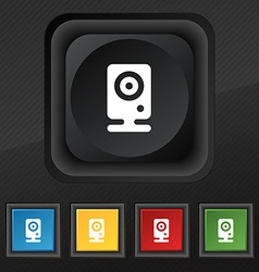 Web cam icon symbol Set of five colorful stylish vector image