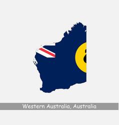 Western australia map flag vector