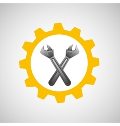wrench construction tool icon vector image