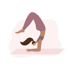 yoga studio asana pose people vector image