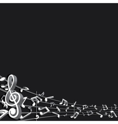 Abstract Music Background Image vector image