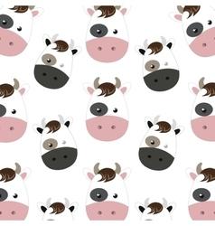 cow cartoon background vector image vector image