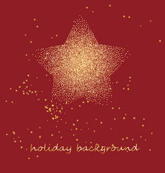 Gold star on a festive red star burst background vector