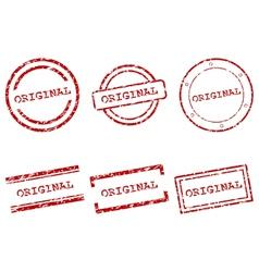 Original stamps vector image
