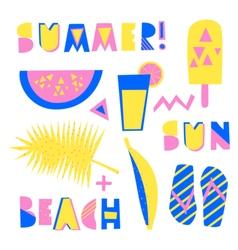 Summer design elements vector