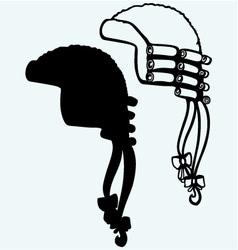 Antique horsehair judges wig vector image
