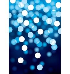 Blue festive lights background vector image vector image
