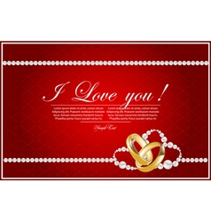 card with hearts vector image vector image