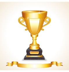 Golden Champions Trophy Cup Image vector image vector image