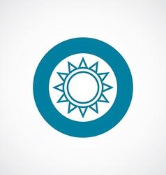 sun icon bold blue circle border vector image