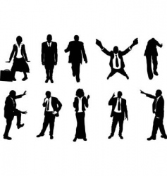 busniess people silhouettes vector image