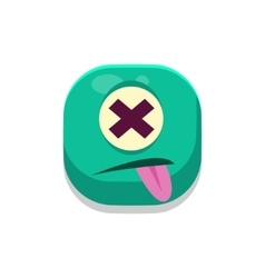 Dizzy Monster Square Icon vector image vector image