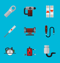 Set of 9 editable electrical icons includes vector