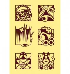 set of easter symbols vector image vector image
