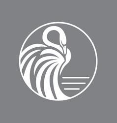 Swan logo sign emblem-12 vector