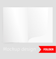 fold realistic mockup design with shadow effect vector image