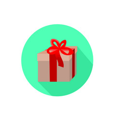 gift icon isolated on a white background vector image vector image