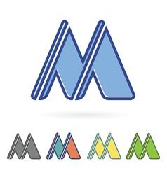 letter M design vector image