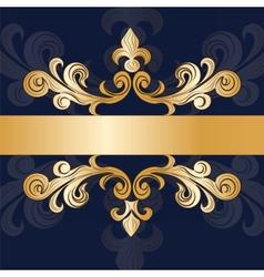 Royal classic ornament invitation vector image