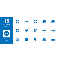 15 cord icons vector