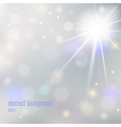 Abstract background with blurry lights vector