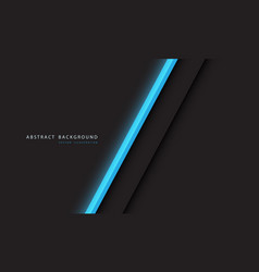 Abstract blue light neon line slash on dark grey vector