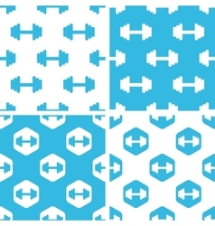 Barbell patterns set vector