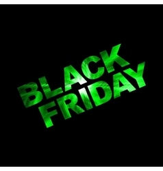 Black friday green vector